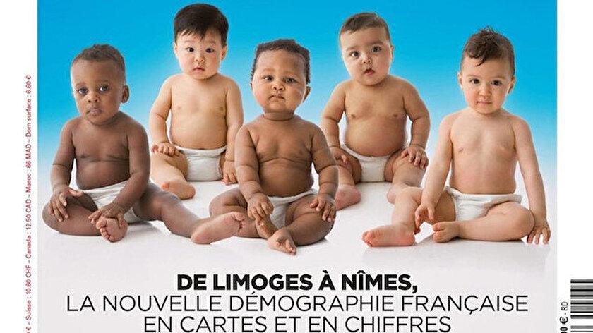 Fransada aşırı sağcı derginin farklı etnik kökenden bebekleri kullandığı ırkçı kapak tepki topladı: Rezil, İslamofobik paçavra