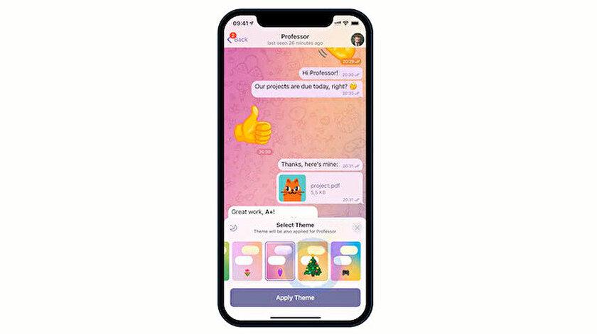 Telegram güncellendi: Sohbet temaları ve kayıt özelliği geldi