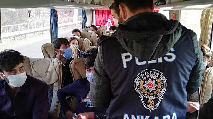 Son dakika Ankarada kaçak göçmen operasyonu: 25 kişi yakalandı