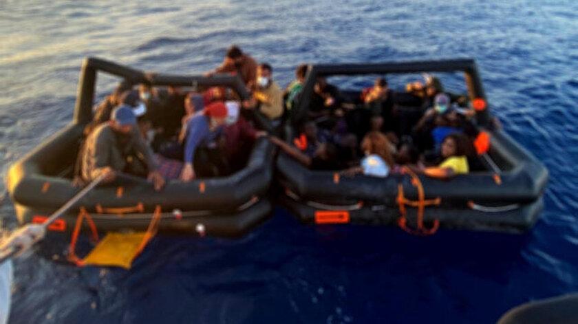 Yunanistana gitmeye çalışan 114 düzensiz göçmen yakalandı