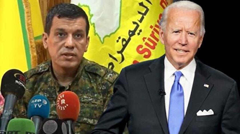 Bidendan terörist Mazlum Kobaniye söz: Sizi terk etmeyeceğiz