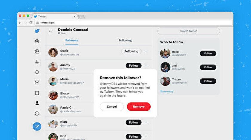 Twitterın takipçileri engellemeden kaldırma özelliği kullanıcılara açıldı