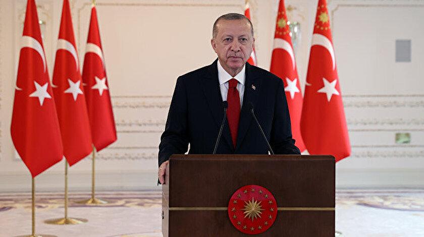 Cumhurbaşkanı Erdoğandan küresel iklim krizi ile mücadele mesajı: Herkes elini taşın altına koymalı