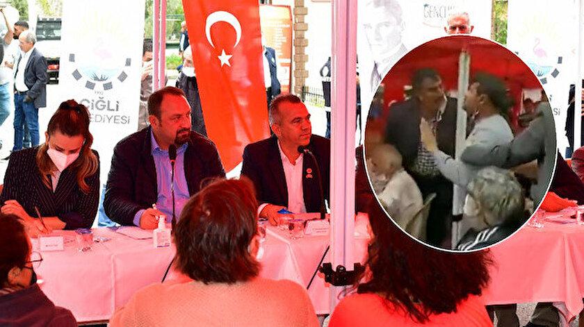 CHPli Belediye Başkanı Selim Utku Gümrükçü kendisine tepki gösteren vatandaşla tartıştı: Böyle bir konuşmaya müsaade etmem
