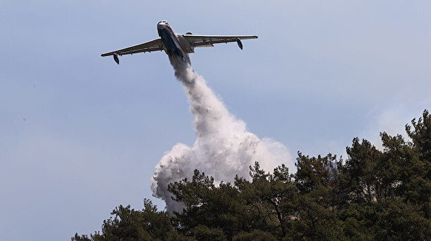 Orman yangınlarıyla mücadelede beş uçak 50 helikopter hedefi