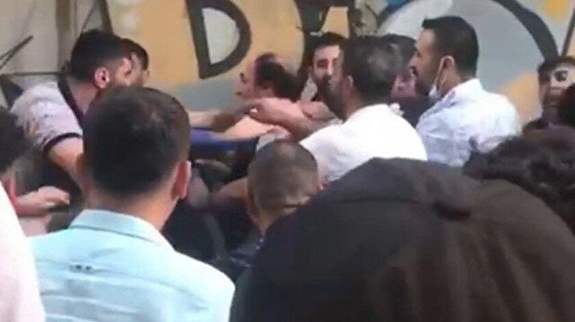 Diyarbakırda tacizciye sokak ortasında meydan dayağı