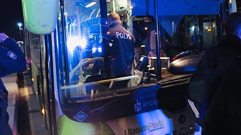 Otobüsten inmeyen koronavirüs hastasını polis indirdi