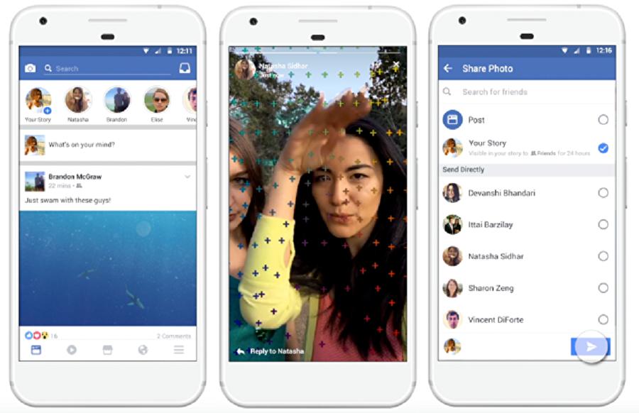 Facebook Hikayeler özelliği, kullanıcıların Snapchat ve WhatsApp'taki gibi 24 saat içinde kaybolan gönderiler oluşturmasını sağlıyor. Üstelik paylaşım sırasında genel ya da özel seçimiyle birlikte Hikayeler yalnızca belirli kişilere gönderilebiliyor.