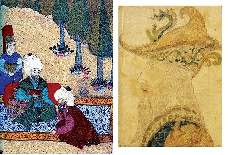 Taşköprülüzâde'nin Şakâyıku'n-Nu'mâniyye adlı eserinde yer alan yukarıdaki minyatürde Semerkant bilim geleneğinin önemli isimlerinden Ali Kuşçu, pek çoğu Osmanlı medreselerinde uzun yıllar ders kitabı olarak okutulan eserlerinden birini Fatih'e takdim ederken görülüyor.-Fatih Sultan Mehmed'in Bizans hükümdarı VIII. Palaeologos'a benzetilerek yapılan El Gran Turco adlı portresi hâlen Topkapı Sarayı'nda bulunmaktadır.