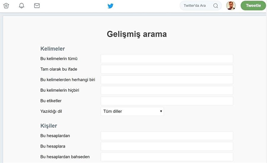 Twitter'daki gelişmiş arama sistemi vasıtasıyla on binlerce tweet arasından aradığınız tweet'i kolayca bulabilirsiniz.