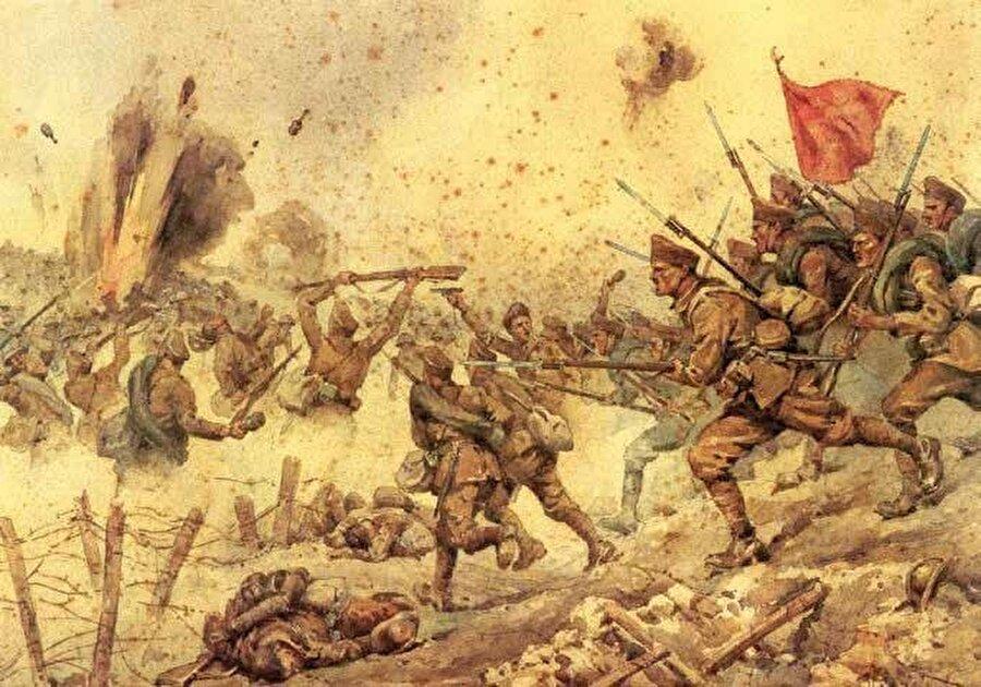 Anadolu'nun işgaline karşı Türk halkının verdiği mücadele İtalyan ressam Vittorio Pisani'nin fırçasına ilham kaynağı olmuştu.