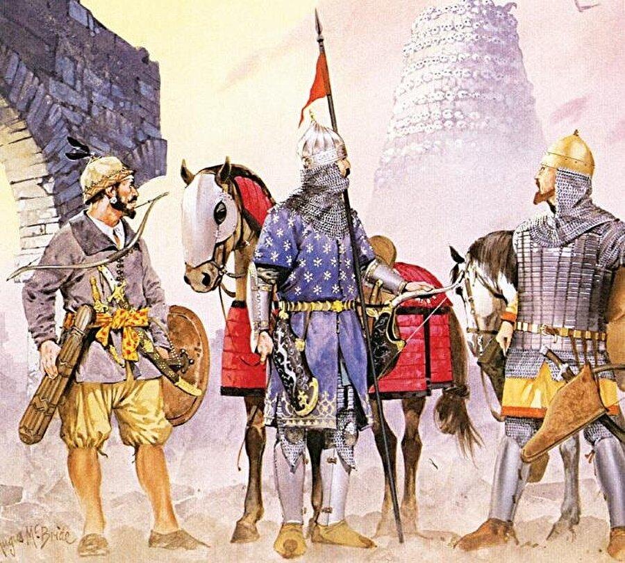 Anadolu'da ismini bilemediğimiz pek çok kaleyi ele geçirip hakimiyet kuran Süleymanşah, valilere üstünlük sağlayarak İznik önlerine kadar gelmeyi başardı. Üstteki temsili çizim Selçuklu askerlerini tasvir ediyor.