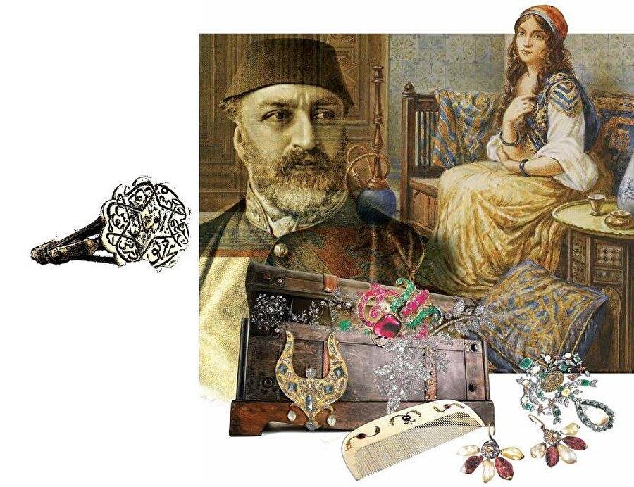 Pertevniyal Valide Sultan'ın mühür yüzüğü. (Nurhan Atasoy, Harem, BKG Yayınları, İstanbul, 2011).