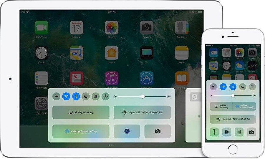 iPhone ve iPad'lerde ekran kilidini aktif etmek için küçük bir parmak kaydırma hareketiyle Denetim Merkezi'ni açıp, en sondaki kilit simgesine tıklamak yeterli.