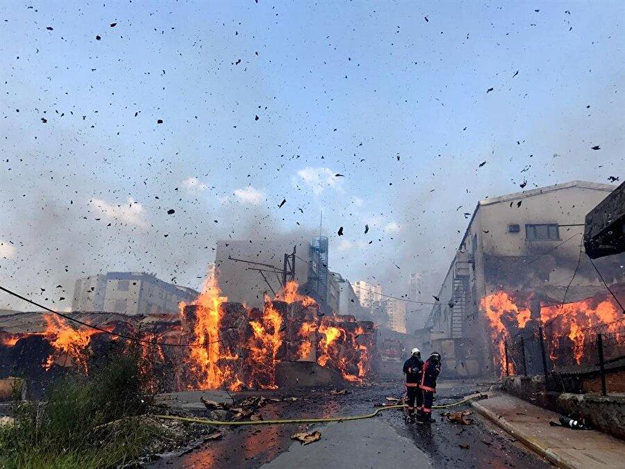 Halkalı karton fabrikası yangını