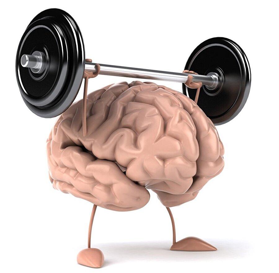 Beynimiz için gerekli egzersizleri konu alan illüstrasyon.