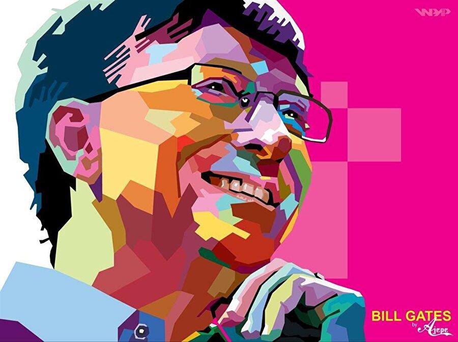 Bill Gates illüstrasyonu.