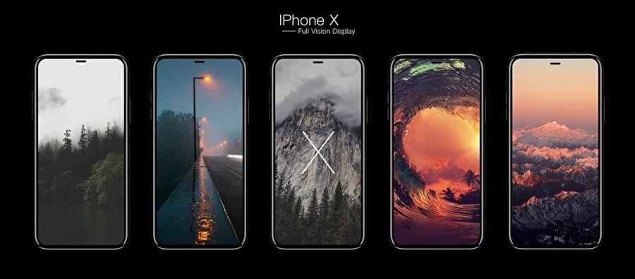 iPhone X ile birlikte ekran / çerçeve oranının da hayli artması bekleniyor.
