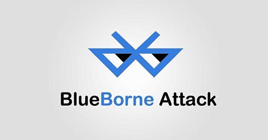BlueBorne tehlikesini ifade eden logo ve tasarım.
