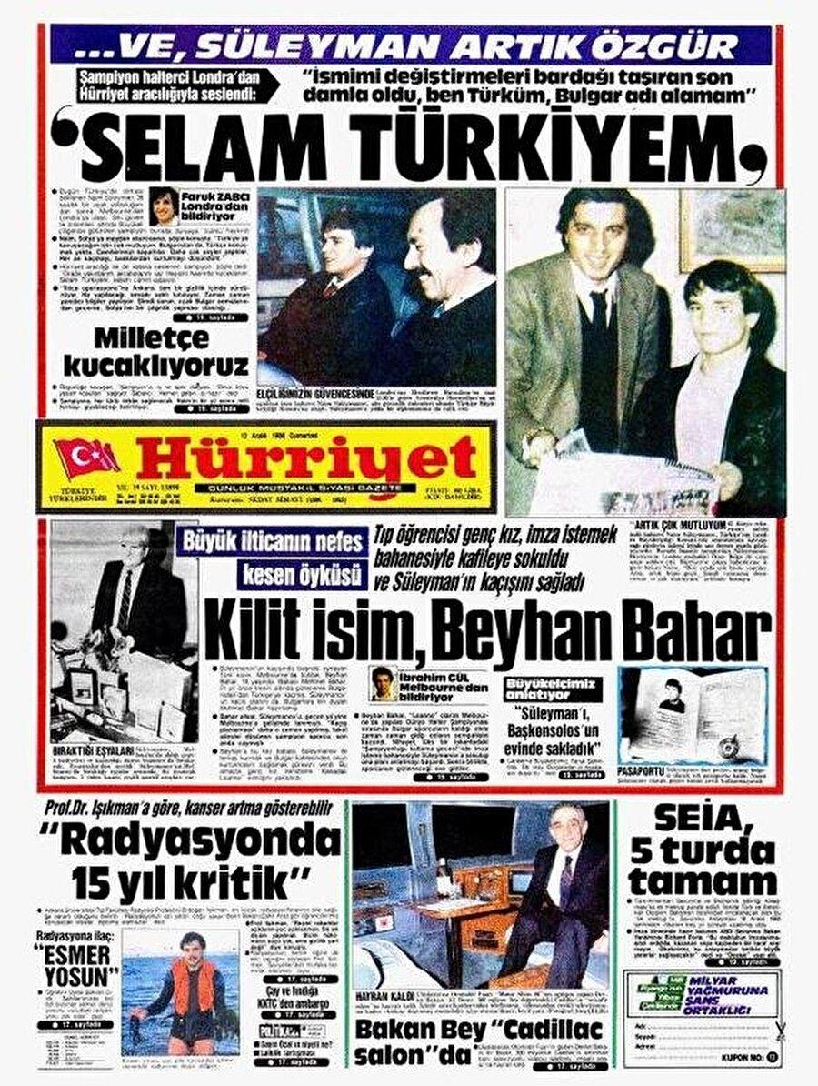 Naim Süleymanoğlu kaçırıldıktan sonra başkonsolosun evinden saklandı.