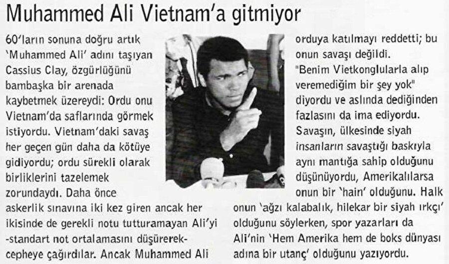 Muhammed Ali, 1960 Roma Olimpiyatları'ndan döndükten iki gün sonra bir lokantada sadece beyazlara servis yapıldığını öğrenince altın madalyasını Ohio Nehri'ne attı.