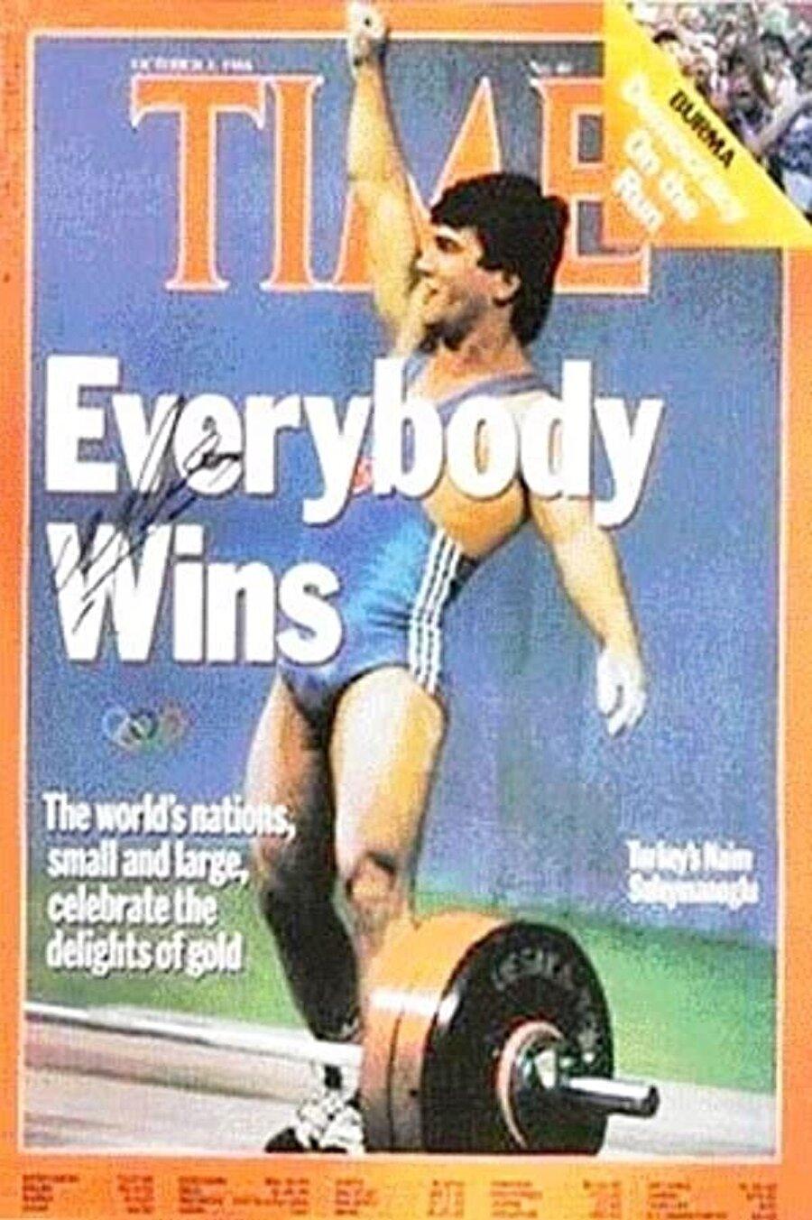 Dünyaca ünlü Amerikan Dergisi Time'a kapak olan tek Türk sporcu, Naim Süleymanoğlu'dur. Naim Süleymanoğlu bu kapaktan sonra, dönemin ABD başkanı Reagan ile 1 saate yakın görüşmüştü.