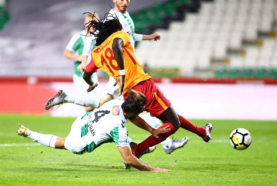 Atiker Konyaspor mücadelesinde Gomis'e yapılan penaltı.