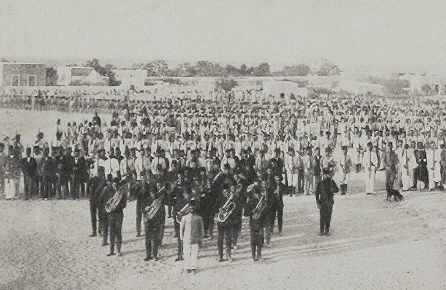 Trablusgarp'taki Osmanlı askerleri.