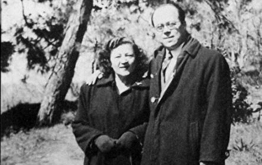 Cemil Meriç ve eşi Fevziye Menteşoğlu