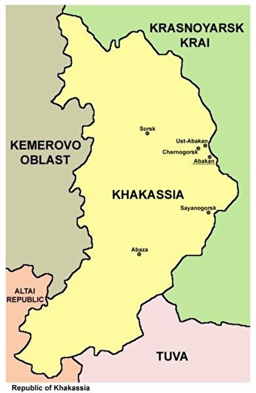 Başkent: Abakan Nüfus: 532.403 Yüzölçümü: 61.900 km² Dil: Hakas Türkçesi Din: Şamanizm