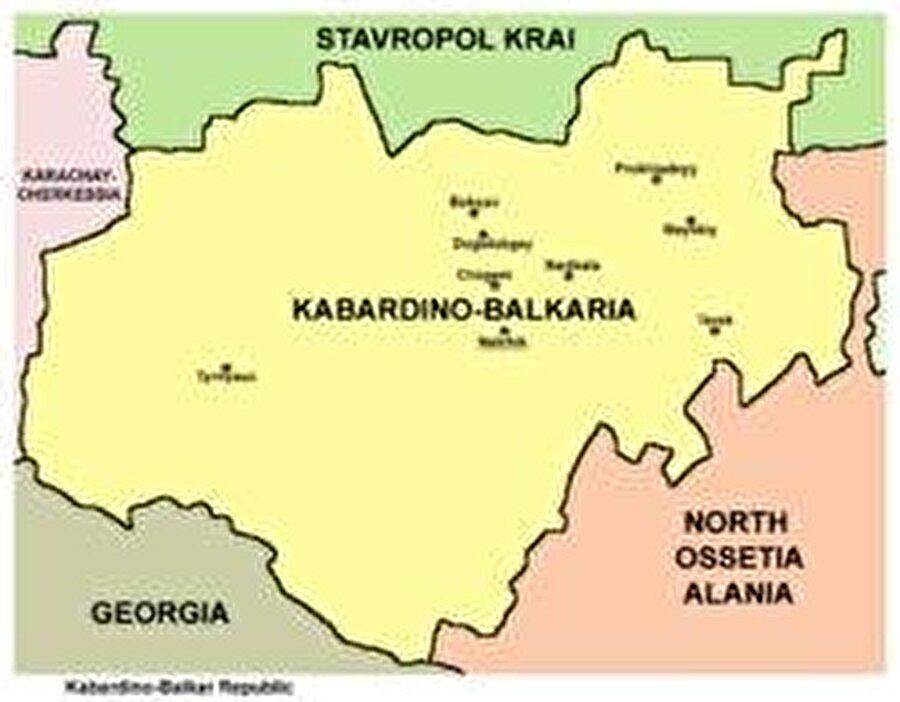 Başkent: Nalçık Nüfus: 901.494 Yüzölçüm: 12.500 km² Dil: Kabardeyce, Balkarca, Rusça Din: İslamiyet Kuruluş: 31 Aralık 1991