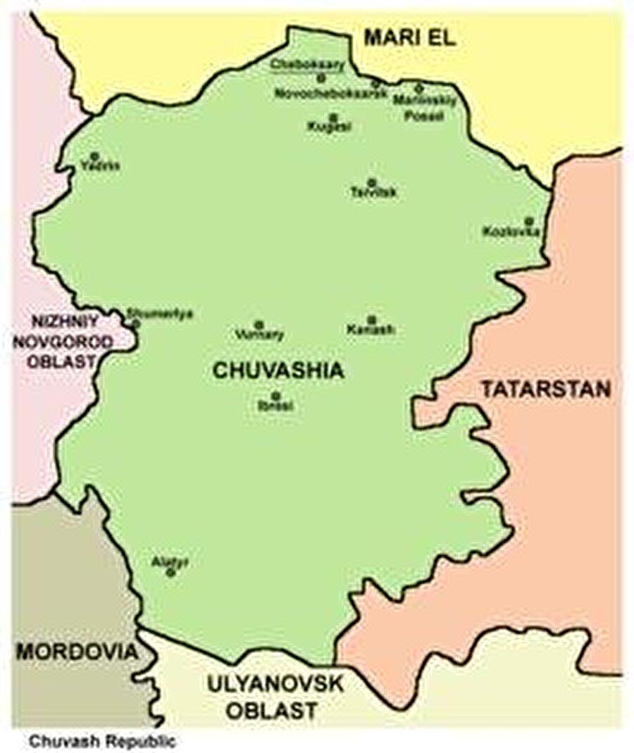 Yüzölçümü : 18.300km2 Nüfusu : 1.500.000 Başkenti : Caboskar Dil: Çuvaşça Din: Ortodoks Hıristiyan (Büyük Çoğunluğu)