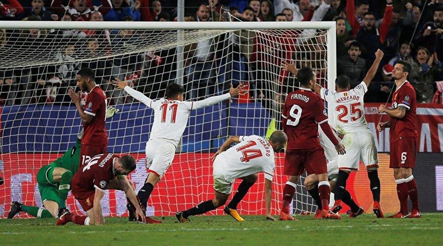 İlk yarı Liverpool'un 0-3 üstünlüğüyle bitti ancak ikinci yarıda Sevilla harika bir geri dönüşe imza attı ve maç 3-3 beraberlikle sonuçlandı.