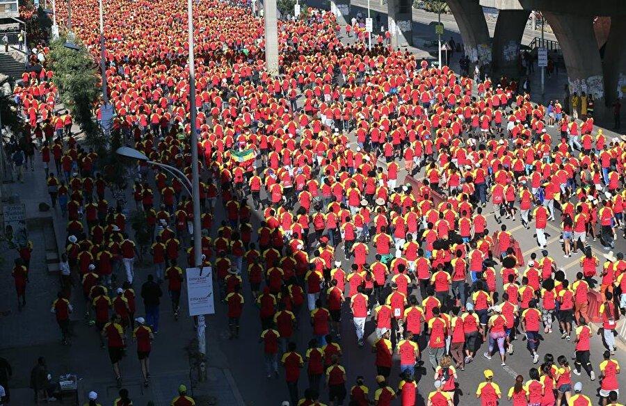 Dev organizasyonda 44 bin kişi koştu.