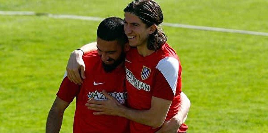 Atletico Madrid'te tanışan iki futbolcu, sıkı dost oldu.