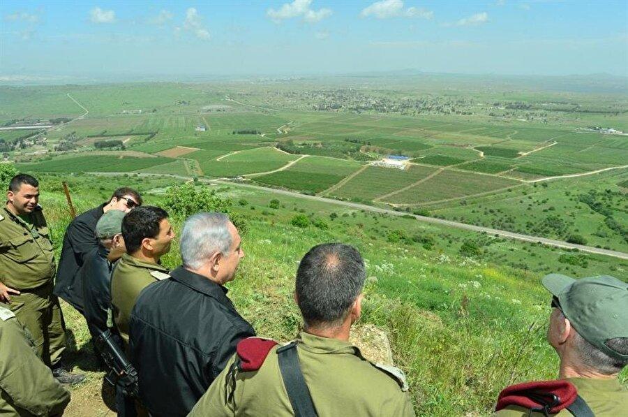 İsrail Başbakanı Netanyahu'nun Golan Tepeleri ziyareti. (Arşiv)