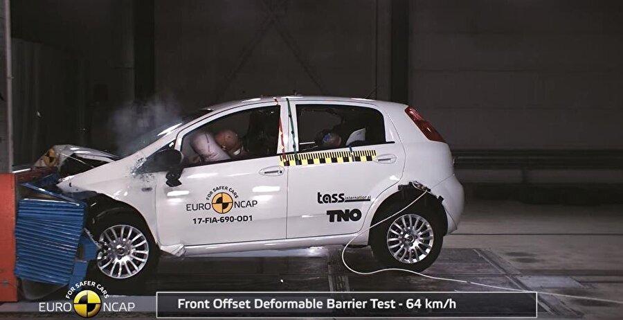 Euro NCAP sonuçlarına göre şu anda FIAT Punto, en güvenliksiz otomobillerden biri.