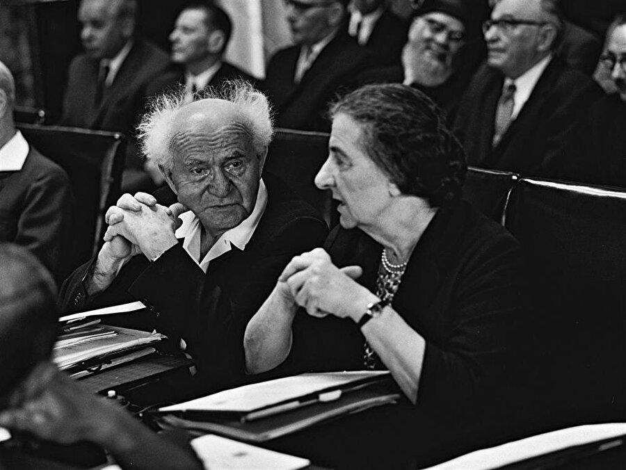 David Ben Gurion ve Golda Meir
