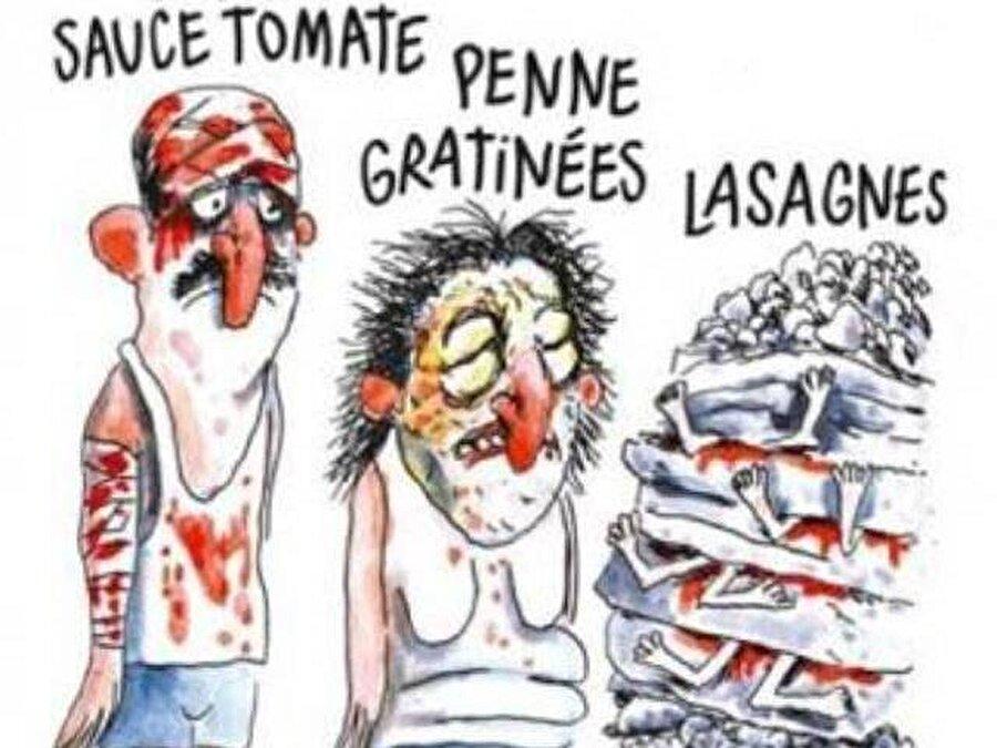 İtalya'da 294 kişinin yaşamına mal olan depreme ilişkin çizdiği karikatür