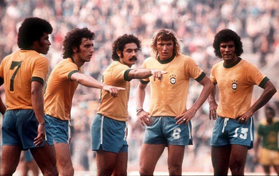 1974 Dünya Kupası'nda mücadele eden Brezilyalı oyunculardan birkaçı