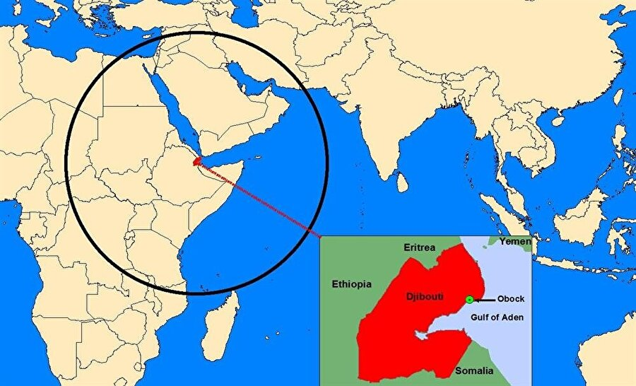 Cibuti'nin dünya haritasında konumu.