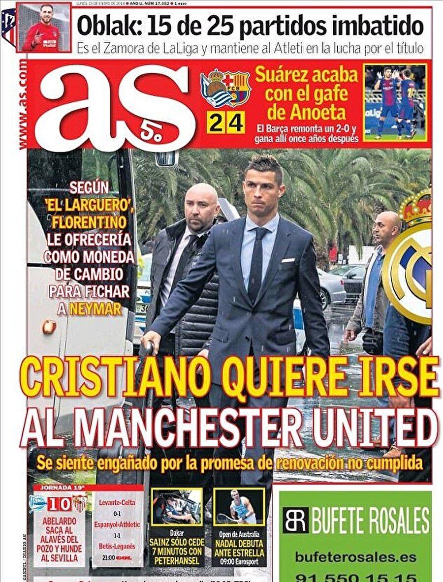 İspanyol basını, Ronaldo'nun Manchester United'a transfer olacağını yazdı.