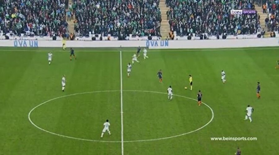 Başakşehir maçındaki zemin.