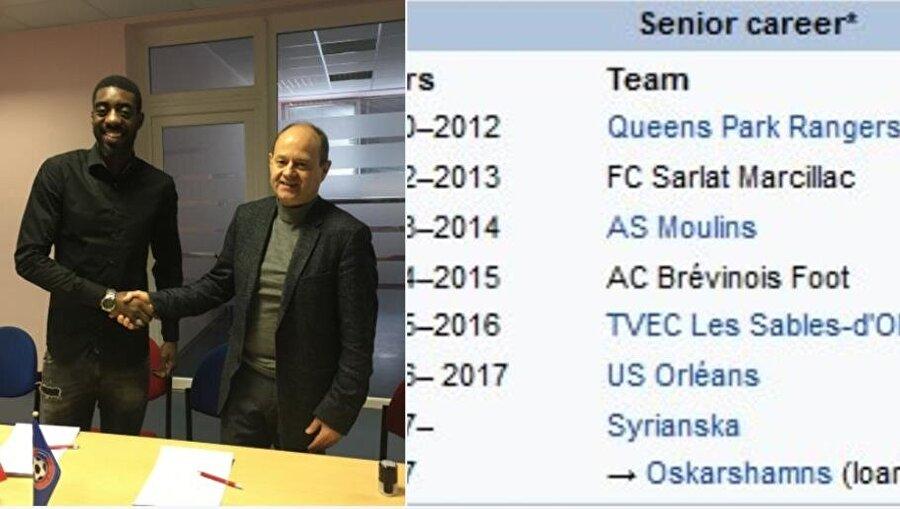 Futbolcunun transfer geçmişi tamamen yalan çıktı.