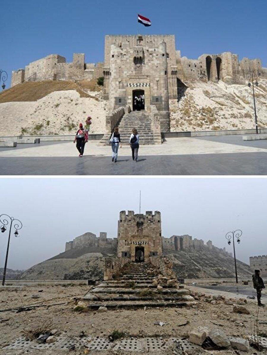 UNESCO Kültür Mirası içinde yer alan Eski Halep'in neredeyse tamamı tahrip edilmiş durumda.