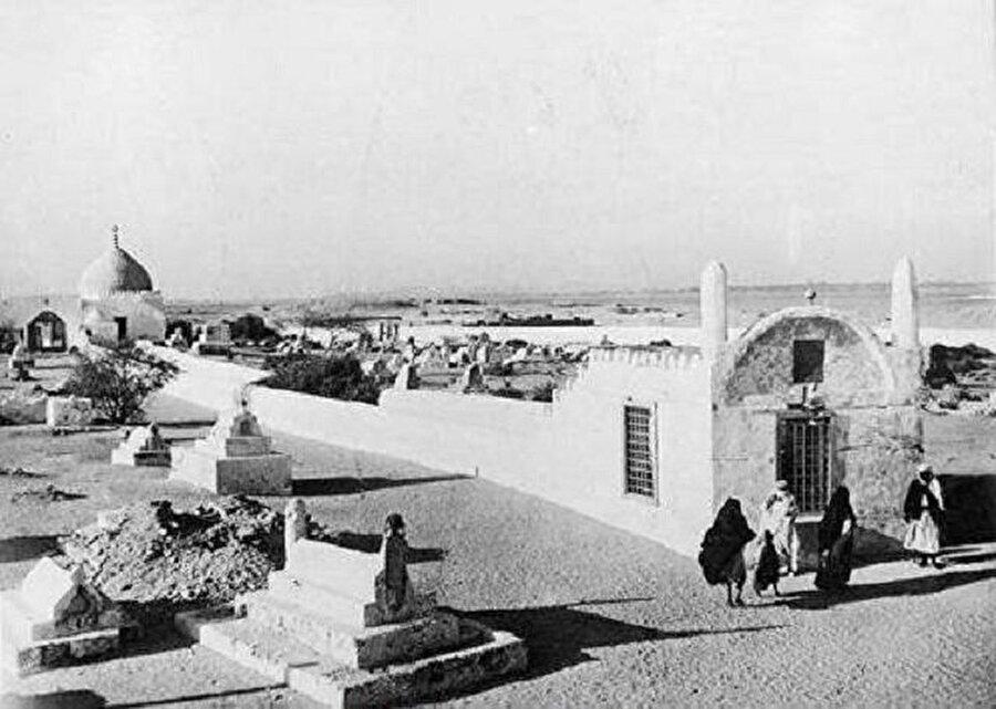 Hz. Havva'ya nispet edilen ve 1930'larda yıkılan mezar.