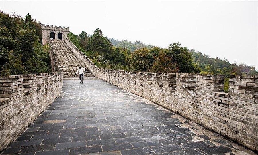 Çin Seddi üzerinde çekilmiş en iyi fotoğraflarından biri olabilir.