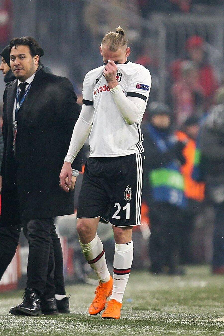 Vida, Beşiktaşlı taraftarları hayal kırıklığına uğrattı. (Fotoğraf: AA)