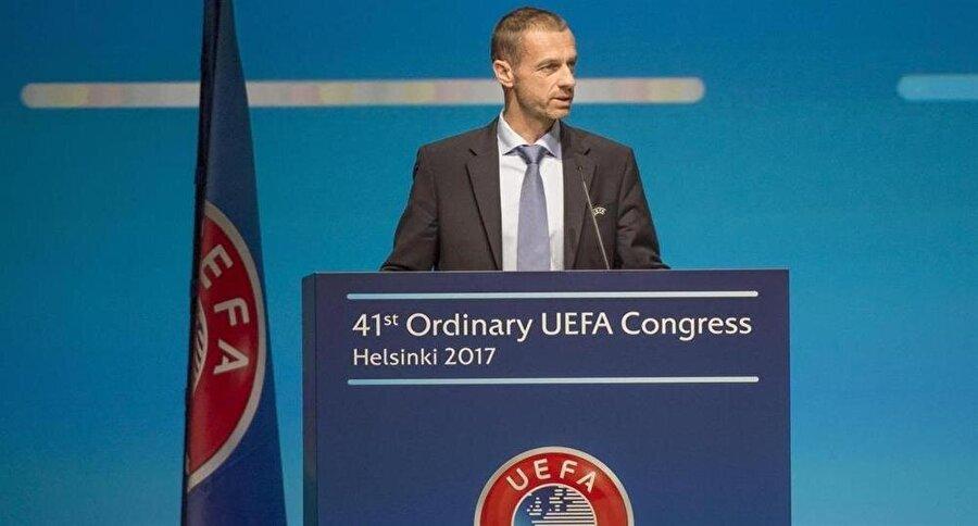 UEFA Başkanı Alexander Caferin