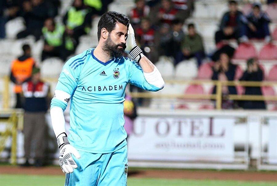 Volkan Demirel hazırlık maçında kalesinde 6 gol gördü. (Fotoğraf: AA)